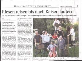 Weser Kurier (Stadtteil Huchting) vom 21.08.2008